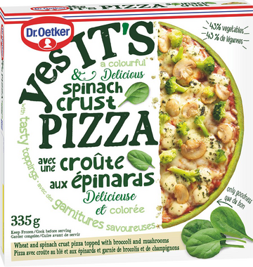 Spinach Crust Pizza - Spinach Crust Pizza by Dr  Oetker