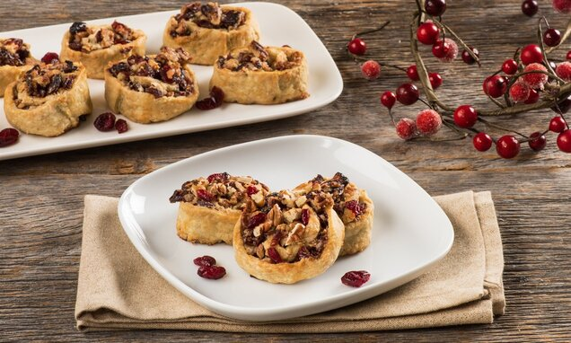 cranberry walnut pinwheels