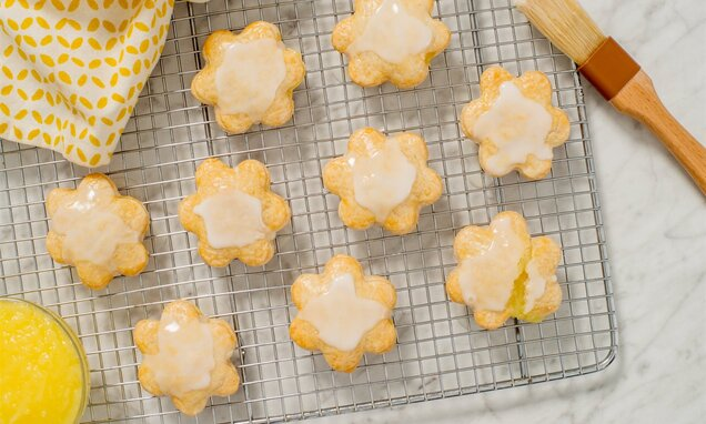 Lemon Flower Cookies